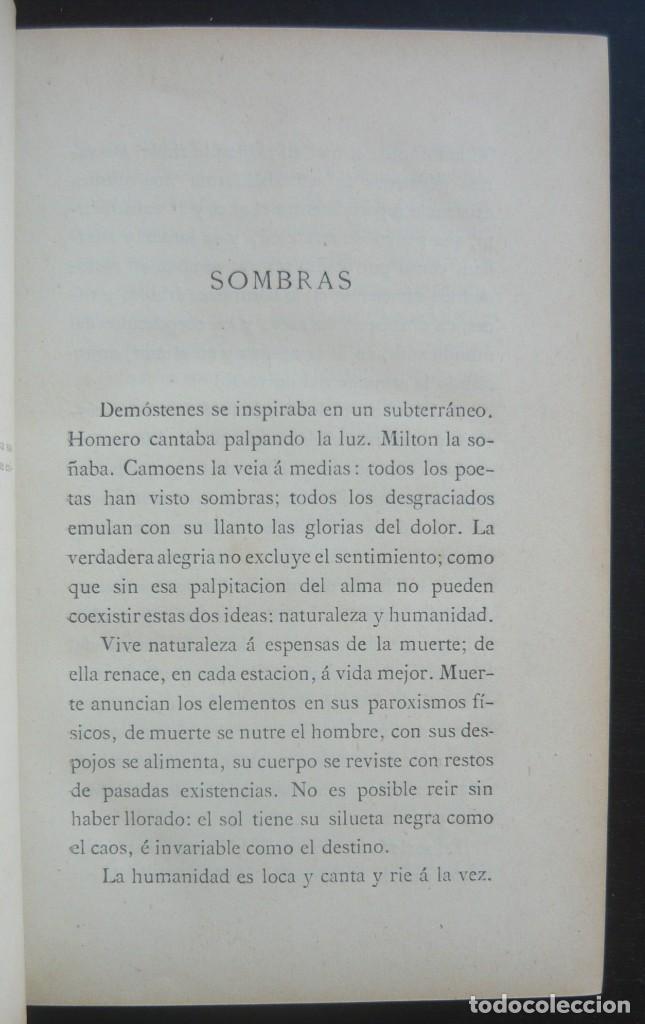 Libros antiguos: 1878. 1ª Ed. ¡Dedicado por el Autor! - Martínez Pedrosa: Sombras. Rasgos de la Fisonomía Social - Foto 7 - 263228855
