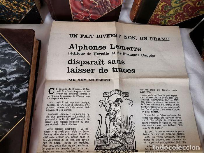 Libros antiguos: lote 12 libro ed. Alphonse Lemerre - Foto 12 - 252556230