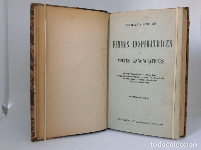 Libros antiguos: Oeuvres - Édouard Schuré - Foto 11 - 252631930
