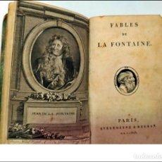 Livros antigos: AÑO 1803. LAS FÁBULAS DE LA FONTAINE. LIBRO DE MÁS DE 200 AÑOS ANTIGÜEDAD.. Lote 252838150