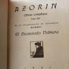 Libros antiguos: AZORÍN LICENCIADO VIDRIERA CARO RAGGIO EDITOR 1921. Lote 253126330