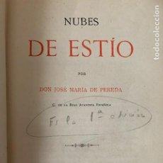 Libros antiguos: NUBES DE ESTIO. JOSÉ MARÍA PEREDA. Lote 253336705