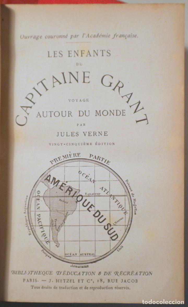 Libros antiguos: VERNE, Jules - ENFANTS CAPITAINE GRANT. VOYAGE AUTOUR DU MONDE (3 vol. - Completo) - Paris c. 1890 - Foto 2 - 254173645