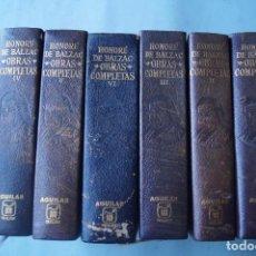 Libros antiguos: OBRAS COMPLETAS. HONORÉ DE BALZAC.. Lote 254178240