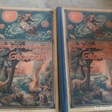Libros antiguos: CONVERSACIONES FAMILIARES SOBRE GEOLOGÍA. TOMO 2 Y 3. PRPM 9. Lote 254255355