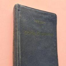 Libros antiguos: VIRGILIO - OBRAS COMPLETAS - LAS BUCOLICAS, LAS GEORGICAS, LA ENEIDA - CA. 1930 - 12 X 15,5 CM 640 P. Lote 254365300