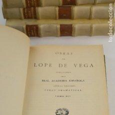 Libros antiguos: OBRAS DE LOPE DE VEGA, 1916 - 1917, REAL ACADEMIA ESPAÑOLA, 13 TOMOS, MADRID. 26X18,5CM. Lote 254701225