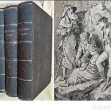 Libros antiguos: AÑO 1876: OBRAS DE WALTER SCOTT. 3 TOMOS ILUSTRADOS DEL SIGLO XIX.. Lote 255559185