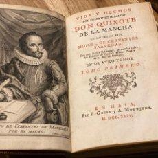 Libros antiguos: CERVANTES. VIDA Y HECHOS DEL INGENIOSO HIDALGO DON QUIJOTE DE LA MANCHA. Lote 256118425