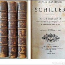Livres anciens: AÑO 1865: OBRAS DE SCHILLER. 3 ELEGANTES TOMOS DEL SIGLO XIX: DON CARLOS Y OTRAS OBRAS.. Lote 258114670