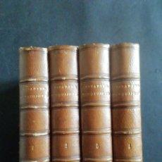 Libri antichi: CERVANTES. DON QUIJOTE DE LA MANCHA. ARGAMASILLA DE ALBA. 1863. M. RIVADENEYRA. 4 TOMOS. COMPLETA.. Lote 260045315