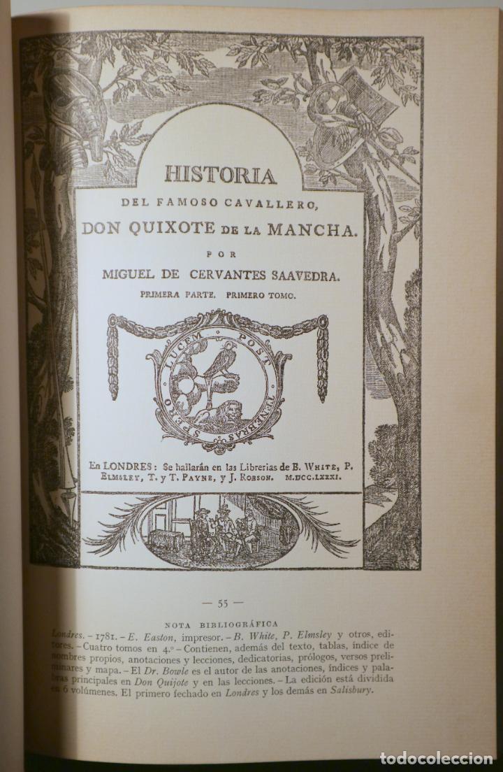 Libros antiguos: Cervantes, Miguel de - ICONOGRAFÍA DE LAS EDICIONES DEL QUIJOTE - CASTELLANAS Y CATALANAS - Barcelo - Foto 4 - 261223495