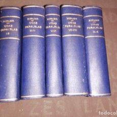 Libros antiguos: PLUTARCO, VIDAS PARALELAS , COMPLETA 10 LIBROS EN 5 TOMOS ENCUADERNADOS, CALPE. Lote 261303495