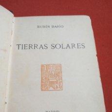 Livros antigos: TIERRAS SOLARES. RUBÉN DARÍO, LEONARDO WILLIAMS EDITOR. 1904. Lote 261589135
