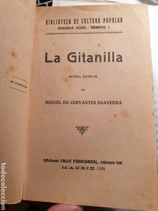 Libros antiguos: La gitanilla - Cervantes - Biblioteca de Cultura popular - Edición especial ayuntamientos Casticismo - Foto 3 - 262147375