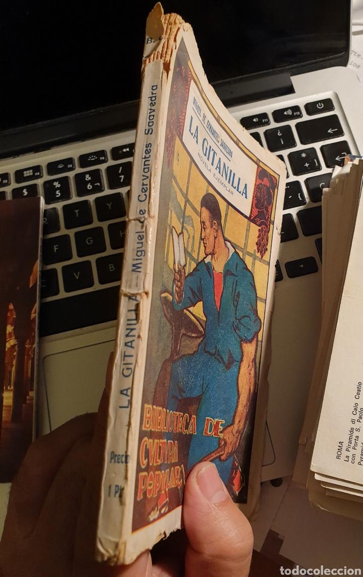 Libros antiguos: La gitanilla - Cervantes - Biblioteca de Cultura popular - Edición especial ayuntamientos Casticismo - Foto 5 - 262147375