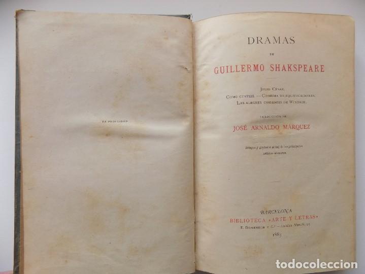 Libros antiguos: LIBRERIA GHOTICA. EDICIÓN LUJOSA DE LOS DRAMAS DE SHAKESPEARE. 1883. ILUSTRADO CON GRABADOS. - Foto 2 - 263028485