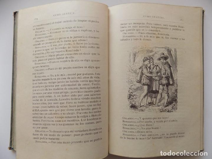 Libros antiguos: LIBRERIA GHOTICA. EDICIÓN LUJOSA DE LOS DRAMAS DE SHAKESPEARE. 1883. ILUSTRADO CON GRABADOS. - Foto 4 - 263028485