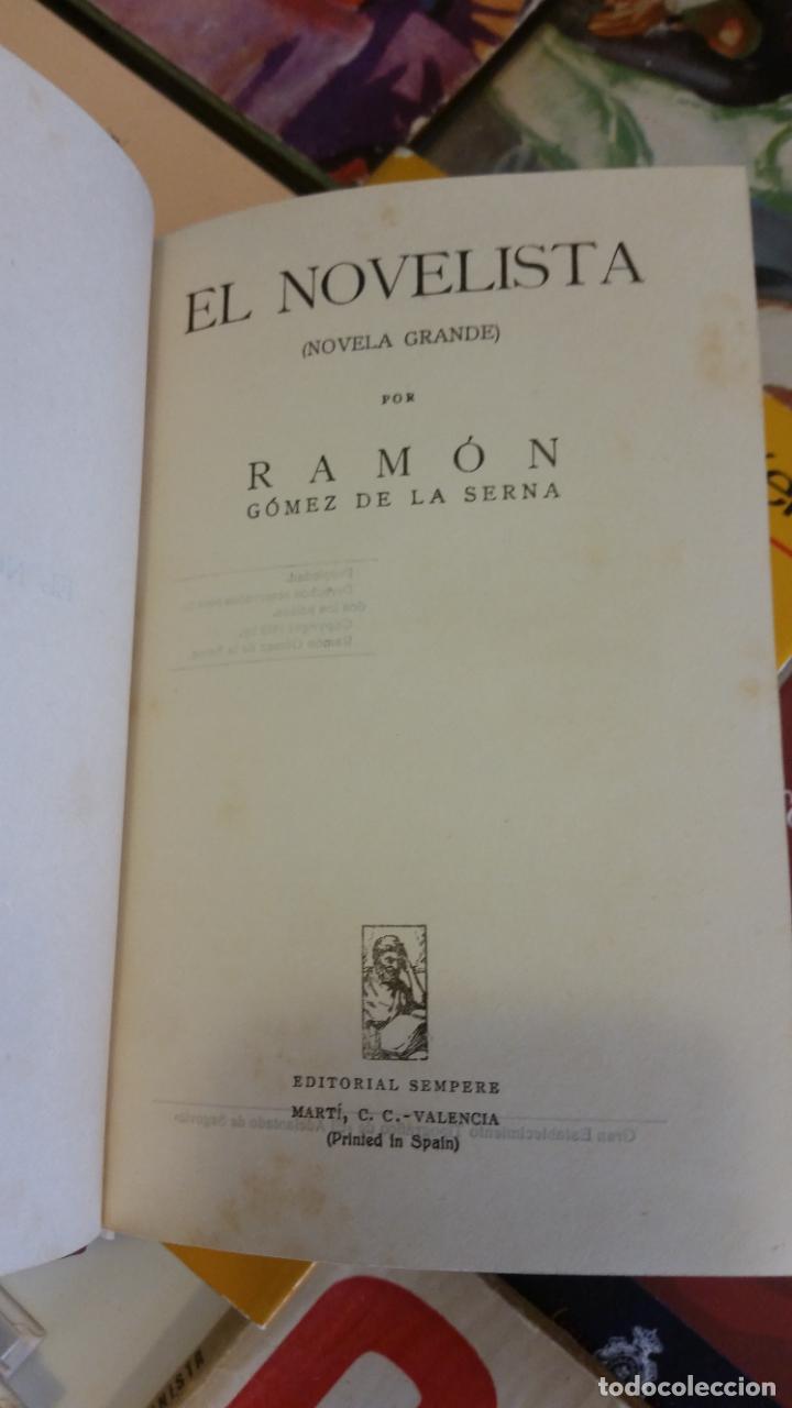 Libros antiguos: 1923 - RAMÓN GÓMEZ DE LA SERNA - EL NOVELISTA - PRIMERA EDICIÓN - Foto 3 - 263164995