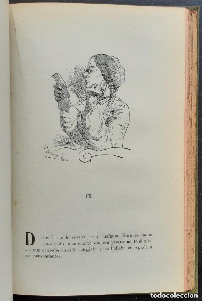Libros antiguos: 1900 - Baronesa de Brackel: Nora - Precioso Libro Modernista Ilustrado con Grabados - Foto 12 - 263229705