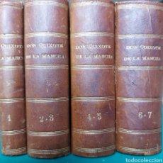 Libros antiguos: DON QUIXOTE DE LA MANCHA. 1814. 7 TOMOS. 4 VOLÚMENES.. Lote 263277385
