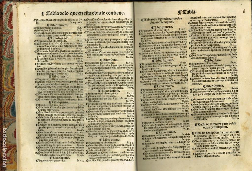 Libros antiguos: LAS OBRAS DE XENOPHON TRASLADADA DEL GRIEGO AL CASTELLANO DIEGO GRACIAN JUAN DE JUNTA SALAMANCA 1552 - Foto 4 - 265105989