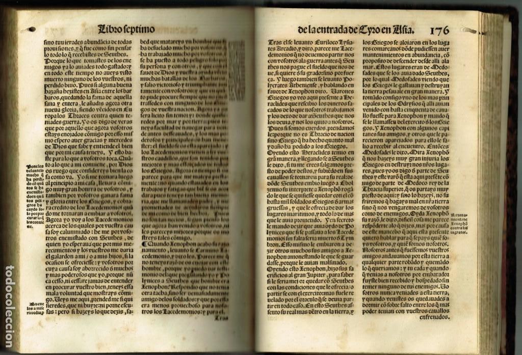 Libros antiguos: LAS OBRAS DE XENOPHON TRASLADADA DEL GRIEGO AL CASTELLANO DIEGO GRACIAN JUAN DE JUNTA SALAMANCA 1552 - Foto 6 - 265105989