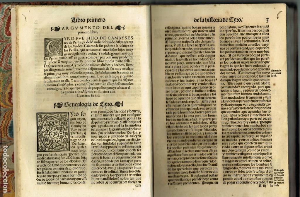 Libros antiguos: LAS OBRAS DE XENOPHON TRASLADADA DEL GRIEGO AL CASTELLANO DIEGO GRACIAN JUAN DE JUNTA SALAMANCA 1552 - Foto 7 - 265105989
