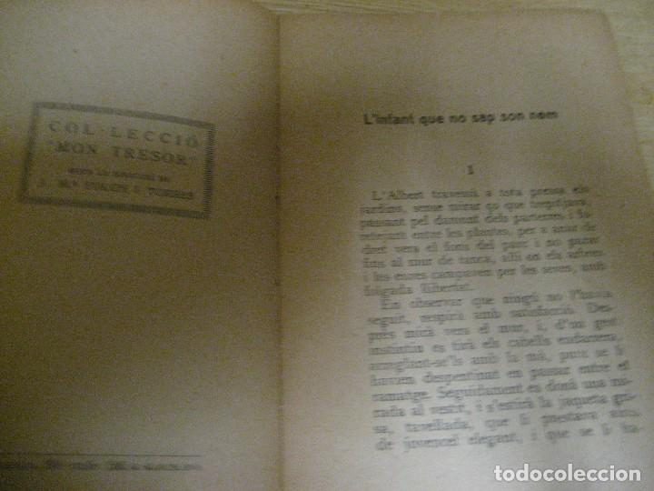 Libros antiguos: Linfant que no sap son nom 1921 potser si potser no Josep Mª Folch i Torres autografo y dedicatoria - Foto 10 - 265769634