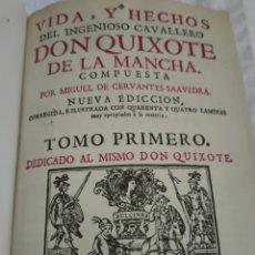 Libros antiguos: DON QUIJOTE DE LA MANCHA 1730 DE JUAN DE SAN MARTÍN. QUIJOTE, SANCHO. Lote 265840684