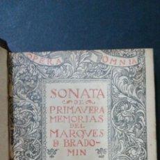 Libros antiguos: 1914 - RAMÓN DEL VALLE INCLÁN - SONATA DE PRIMAVERA. Lote 266000678