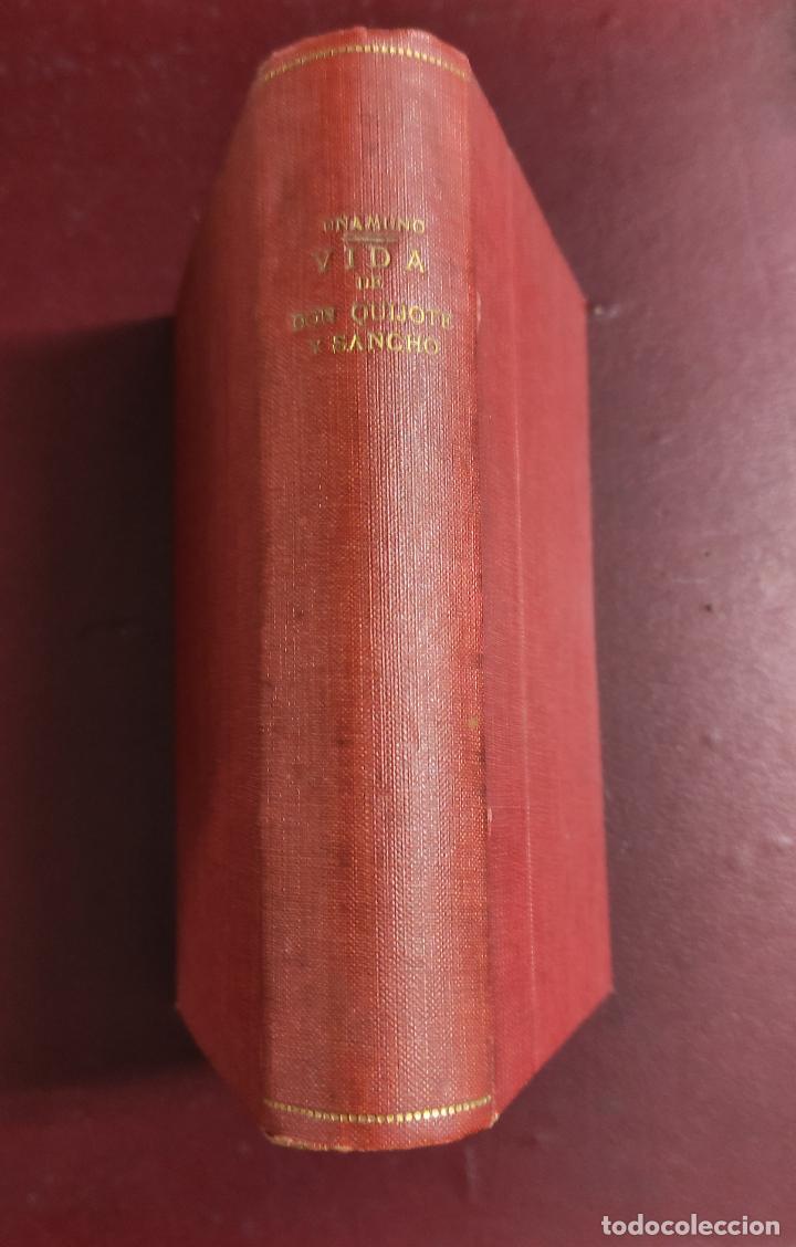 Libros antiguos: Miguel de Unamuno -Vida de Don Quijote y Sancho según Miguel de Cervantes Saavedra 1914 468p 18x12 - Foto 2 - 267093634