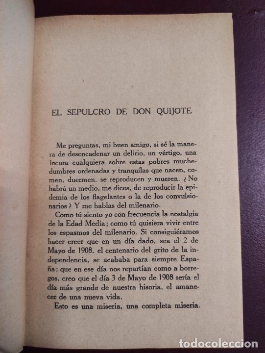 Libros antiguos: Miguel de Unamuno -Vida de Don Quijote y Sancho según Miguel de Cervantes Saavedra 1914 468p 18x12 - Foto 3 - 267093634