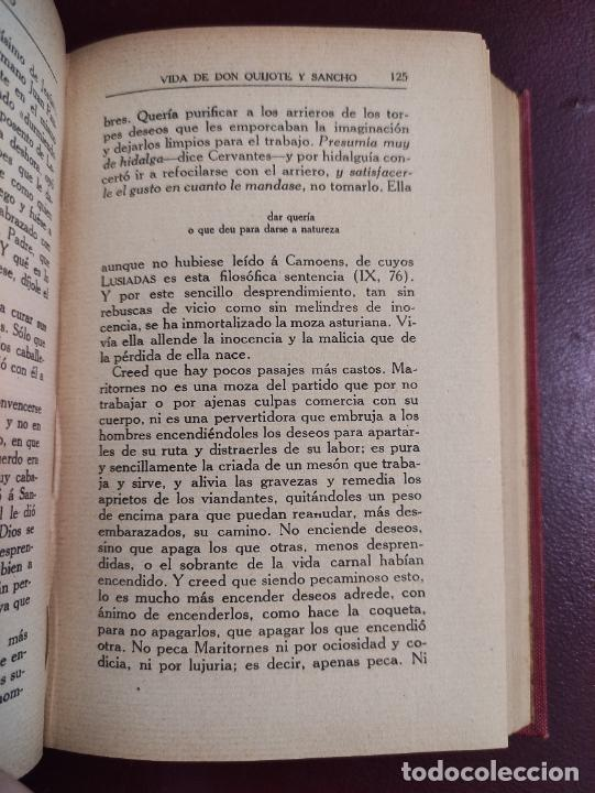 Libros antiguos: Miguel de Unamuno -Vida de Don Quijote y Sancho según Miguel de Cervantes Saavedra 1914 468p 18x12 - Foto 4 - 267093634