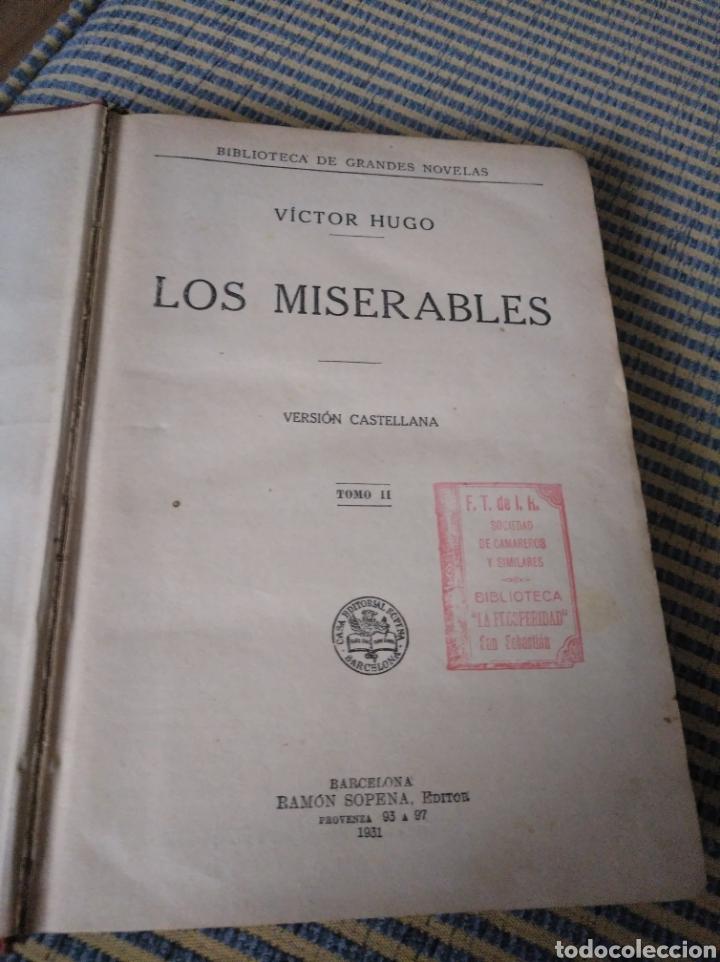Libros antiguos: Los Miserables. Tomo II. 1931. Víctor Hugo - Foto 3 - 269125433