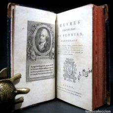 Libros antiguos: AÑO 1803 DIÁLOGO ENTRE DOS PERROS GUILLERMO TELL POEMA HEBREO FÁBULAS FLORIAN 7 GRABADOS 2T EN 1V. Lote 269175898