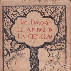 Libros antiguos: EL ARBOL DE LA CIENCIA - PIO BAROJA - CARO RAGGIO EDITOR 1929. Lote 269587873