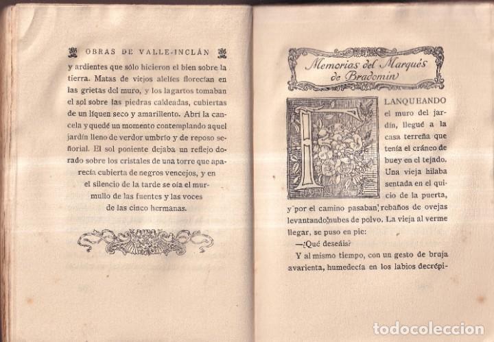 Libros antiguos: SONATA DE PRIMAVERA, MEMORIAS DEL MARQUÉS DE BRADOMIN - RAMÓN VALLE INCLÁN - OPERA OMNIA V 1922 - Foto 4 - 269771463