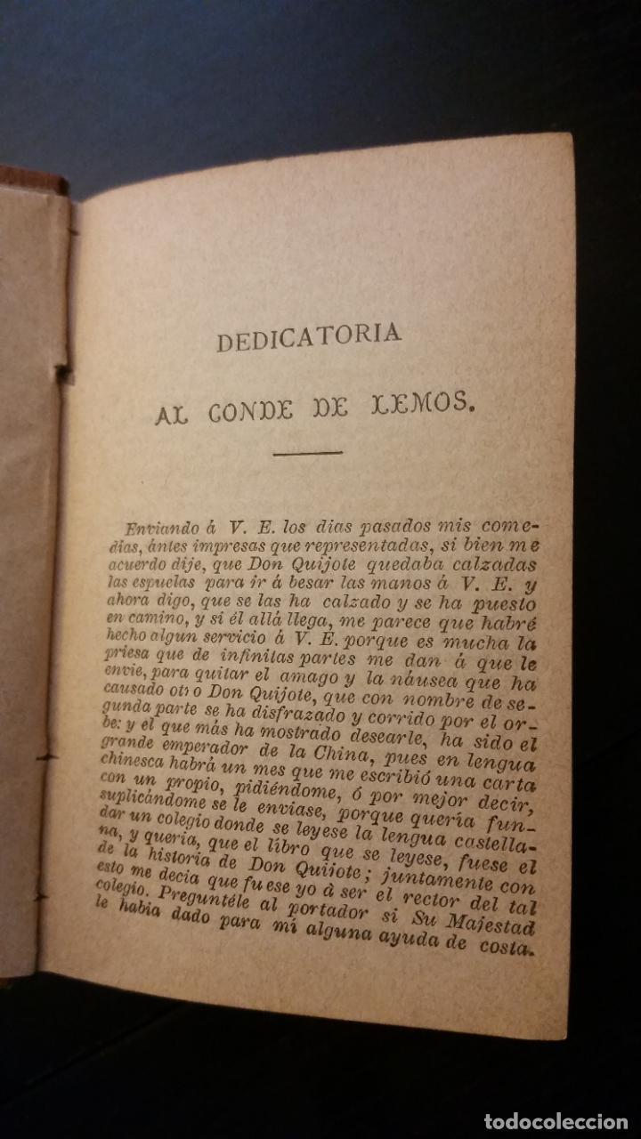 Libros antiguos: 1885 - CERVANTES - DON QUIJOTE DE LA MANCHA - SEGUNDA PARTE 2 TOMOS, ZARAGOZA, RARO - Foto 6 - 270133918