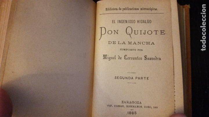 Libros antiguos: 1885 - CERVANTES - DON QUIJOTE DE LA MANCHA - SEGUNDA PARTE 2 TOMOS, ZARAGOZA, RARO - Foto 11 - 270133918