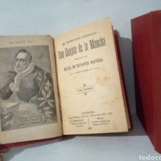 Libros antiguos: EL INGENIOSO HIDALGO DON QUIJOTE DE LA MANCHA. ED. MAUCCI. 1901. DOS TOMOS ENCUADERNADOS EN PIEL.. Lote 270411313