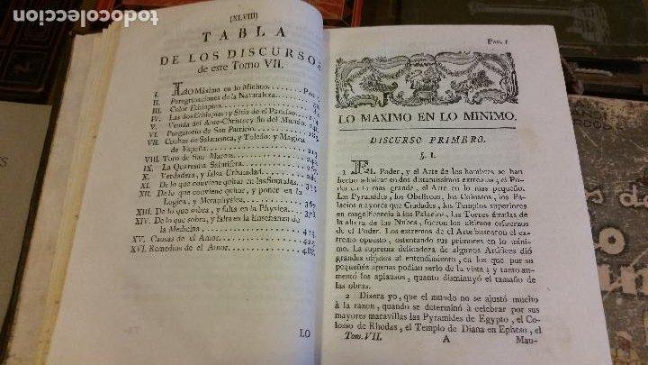 Libros antiguos: 1781 - FEIJOO - TEATRO CRÍTICO UNIVERSAL - TOMO SÉPTIMO: VENIDA DEL ANTICRISTO - Foto 4 - 270561948