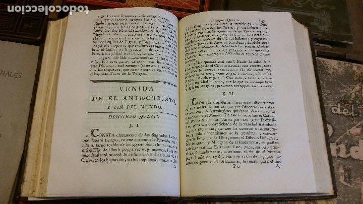 Libros antiguos: 1781 - FEIJOO - TEATRO CRÍTICO UNIVERSAL - TOMO SÉPTIMO: VENIDA DEL ANTICRISTO - Foto 5 - 270561948
