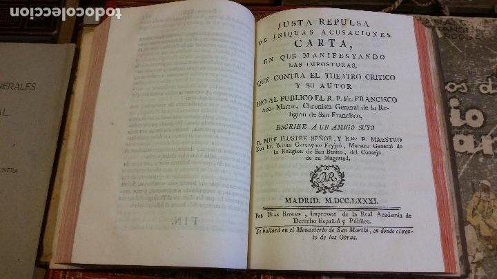 Libros antiguos: 1781 - FEIJOO - ILUSTRACIÓN APOLOGÉTICA + JUSTA REPULSA DE INICUAS ACUSACIONES - Foto 4 - 270562288