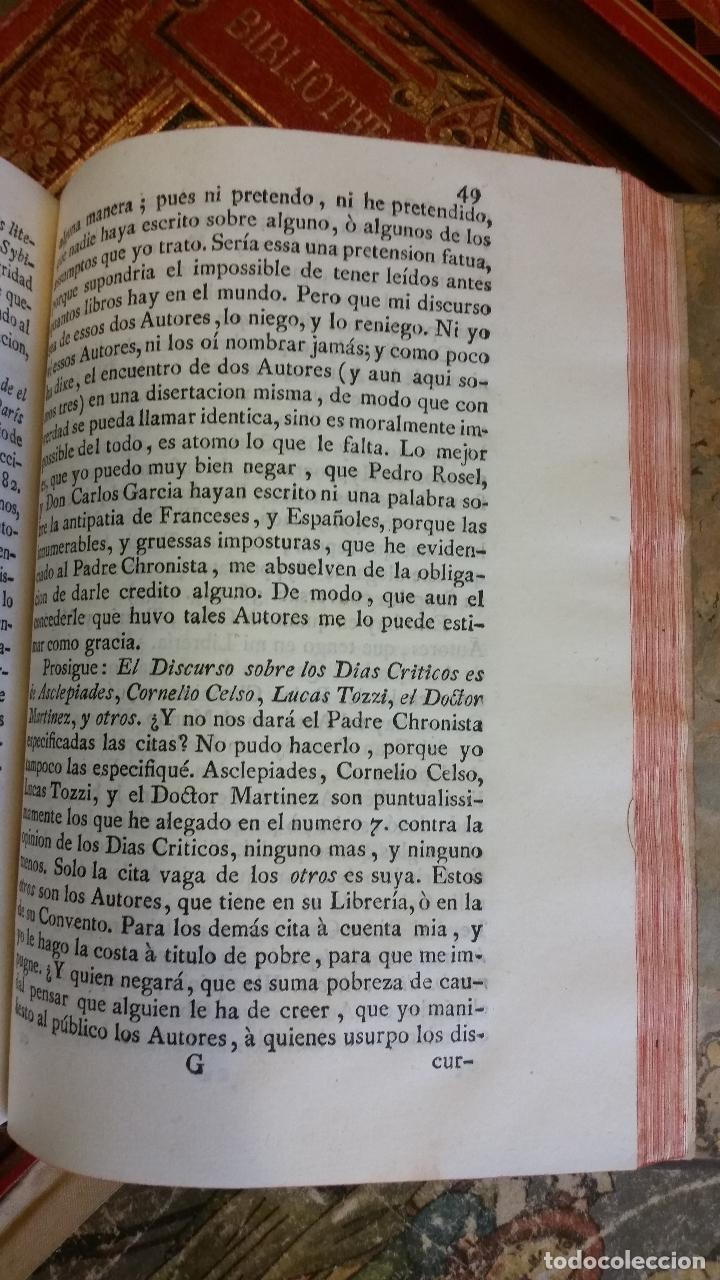 Libros antiguos: 1781 - FEIJOO - ILUSTRACIÓN APOLOGÉTICA + JUSTA REPULSA DE INICUAS ACUSACIONES - Foto 6 - 270562288