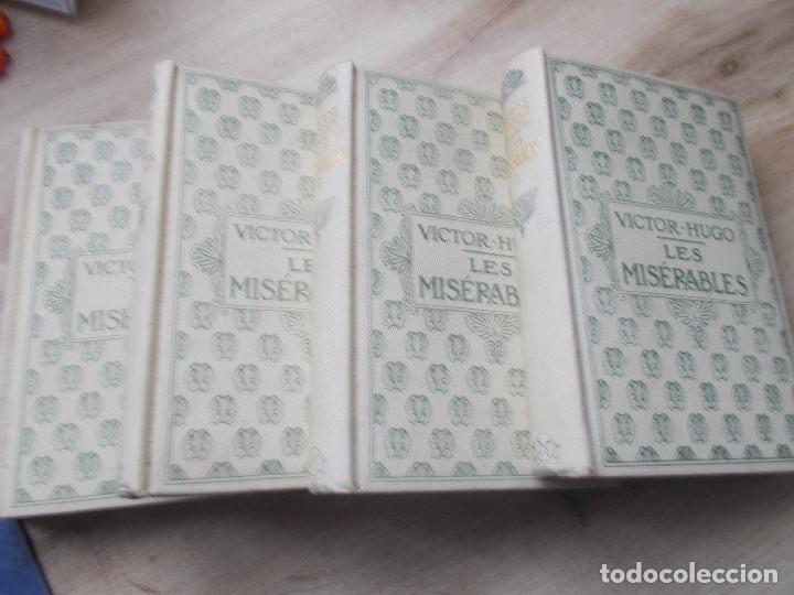 Libros antiguos: LES MISERABLES- DE VICTOR HUGO EN 4 TOMOS DE EDITORIAL NELSON DE EDIMBURGO EN FRANCES - Foto 2 - 270586273