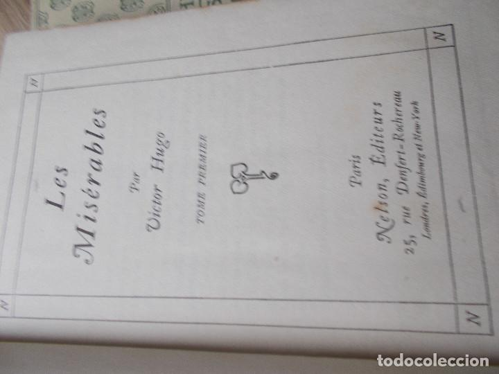 Libros antiguos: LES MISERABLES- DE VICTOR HUGO EN 4 TOMOS DE EDITORIAL NELSON DE EDIMBURGO EN FRANCES - Foto 3 - 270586273