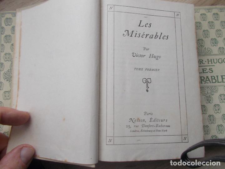 Libros antiguos: LES MISERABLES- DE VICTOR HUGO EN 4 TOMOS DE EDITORIAL NELSON DE EDIMBURGO EN FRANCES - Foto 4 - 270586273