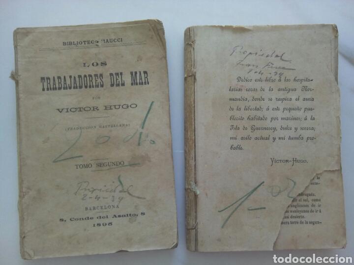 LOS TRABAJADORES DEL MAR, DE VÍCTOR HUGO (2 TOMOS) (Libros antiguos (hasta 1936), raros y curiosos - Literatura - Narrativa - Clásicos)
