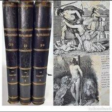 Libros antiguos: AÑO 1837. CHATEAUBRIAND. 3 ELEGANTES TOMOS DEL SIGLO XIX DE 23 CM.. Lote 275078973